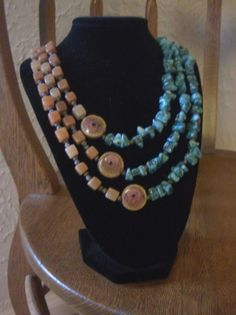 Turquoise and earthtone necklace | ShanaEileen - Jewelry on ArtFire