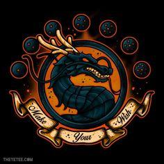 #MortalKombat: Dragon logo / #DragonBall: Shenron mashup #tshirt.