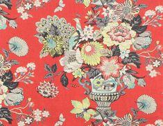 Williamsburg Portobello Vase Ladybug,Waverly Floral,Colonial Williamsburg,Colonial Williamsburg Fabric BUY NOW:   http://shop.thefabricfinder.com/Waverly_Williamsburg_Portfobello_Vase_Ladybug.aspx