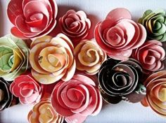 paper flowers diy embellishments for picture frame