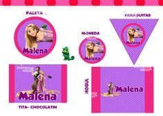 Etiquetas personalizadas para Candy Bar de Rapunzel. chiru.souvenirs@hotmail.com