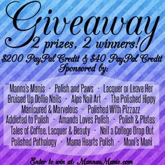 PayPal Giveaway! Go ENTER I JUST DID.