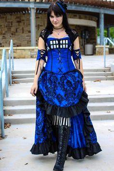 Steampunk Tardis dress!