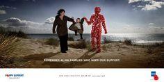 Poppy Man in Poppy Day advertisement
