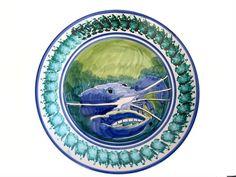 Vietri Blue Crab Vintage Large Bowl Wall Hanging by EncoreEmporium #vogueteam #vintagegiftideas #vintagedecor