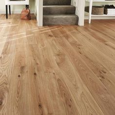 Long Length Click Loc Engineered Oak x Lacquered Wood Flooring House, Floor Design, Home, Living Room Flooring, House Flooring, Living Room Decor, Hardwood Floors, Flooring, Solid Wood Flooring