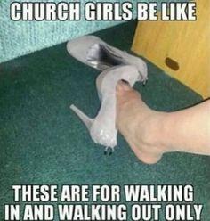 Girls in church christian meme
