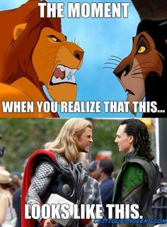 And yet, in Lion King I like Mufasa better, and in Thor I like Loki better...