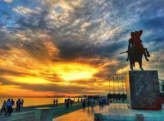 Macedonia Greece, Alexander The Great, Thessaloniki, Celestial, Sunset, City, Places, Outdoor, Beautiful