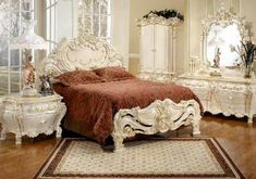 French Provincial Furniture Home Furniture Ideas Pertaining To French Provincial Bedroom Sets Plan Victorian Bedroom Furniture Sets, Classic Bedroom Furniture, Bedroom Sets, Queen Bedroom, Victorian Decor, Dream Bedroom, Queen Headboard, Baroque Bedroom, Baroque Furniture