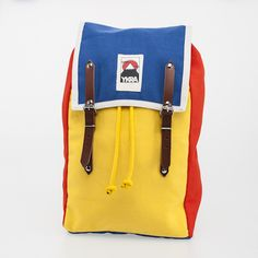 YKRA MATRA MINI COTTON STRAPPED TRICOLOR BACKPACK  FRONT