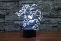 Iron Man Flying 3D Lamp