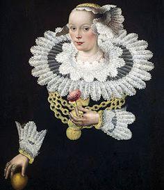 Retrato de Anna Rosina Marquart. Pintura de Michael Conrad Hirt (1642)