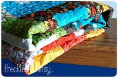 """Tons of quilting tutorials, includes the tutorial for """"stack of pennies"""" called """"random reflections"""""""