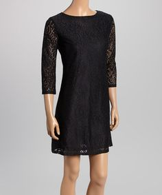 Another great find on #zulily! Black Rose Lace Sheath Dress #zulilyfinds