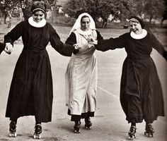 These sisters know how to have a good time! These vintage photographs below reveal the surprising side of convent life. Here are nuns on rol...