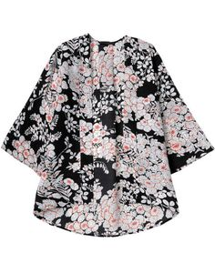 Shop Black Half Sleeve Floral Crop Kimono online. Sheinside offers Black Half Sleeve Floral Crop Kimono & more to fit your fashionable needs. Free Shipping Worldwide!