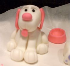 Two Crazy Cupcakes: Fondant Puppy Cake Toppers Fondant Figures, Clay Figures, Dog Cake Topper, Cake Toppers, Dog Cakes, Cupcake Cakes, Fondant Dog, Puppy Cake, Animal Cupcakes