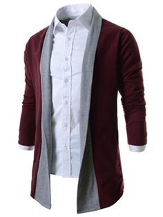 2015 New Men's Sweaters Single Breasted Patchwork Color Cardigans Slim Fit Men Casual sweaters Clothing Cardigan Casual Sweaters, Casual T Shirts, Men Casual, Designer Suits For Men, Mens Clothing Styles, Shirt Style, Men Sweater, Sweater Coats, Fashion Outfits