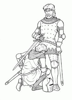 Coloriage Adoubement.Knight Coloring Pages Ricari Coloring Pages Knight Castle