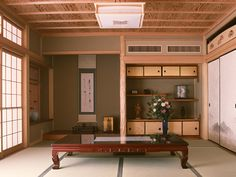 I love the little nooks and the gentle color palate.  I am a little scared of buying real tatami though, especially in my climate.