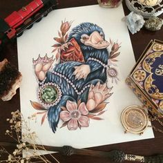 by Georgina Liliane Tattoo - Harry Potter - Harry Potter Kunst, Harry Potter Films, Harry Potter Drawings, Harry Potter Tattoos, Harry Potter Diy, Harry Potter Universal, Harry Tattoos, Cute Tattoos, Beautiful Tattoos