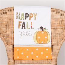 Happy Fall Y'all Pumpkin Tea Towel