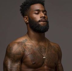 Black Bearded Men - Sharing photos of black men to combat the erasure in the beard movement. The Effective Pictures We - Black Man, Fine Black Men, Gorgeous Black Men, Handsome Black Men, Black Boys, Fine Men, Black Men Hair, Cute Black Guys, Handsome Man