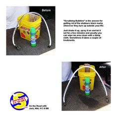 Scrubbing Bubbles is our go-to cleaner for removing black marks on about anything on or around our RV. Rv Mods, Bubbles, Cleaning, Let It Be, Rv Living, Retirement, Tips, Black, Black People