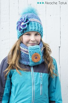 Patron au crochet  Crochet hat flower pattern for child