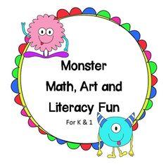 Monster Unit for Kindergarten and First Grade $