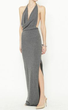 Halston Grey Dress.