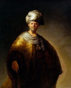 "Rembrandt: ""Knee length Figure of a Man in an Oriental Dress"", 1632."