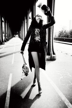 Mariane Brivall photographed by Ellen von Unwerth for 7000 Magazine, F/W 2012.