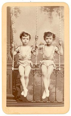 CDV Thomas Houseworth Parlor View of Two Trapeze Performers CA 1875 | eBay