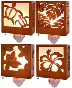 Hawaiian Tropical Nightlights...would be cute in a beach themed bathroom