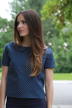 Peter Pan Collar Top by Cotton + Curls / Free tutorial / Like the collar