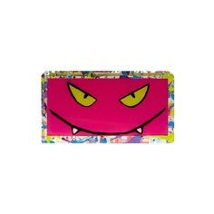 Stefanie Phan Life Of The Party Neon Monster Bag ($917) ❤ liked on Polyvore featuring bags, handbags, neon, lucite purse, magnetic bag, lucite handbags, acrylic purse and pink purse