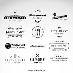 Restaurante conjunto de vetores