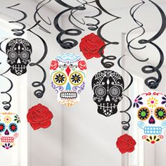 day of the dead decorations halloween hanging decorations