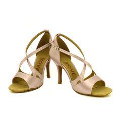 d27074c2 YOVE Dance Shoe Satin and PU Women's Latin/ Salsa Dance Shoes 3.5