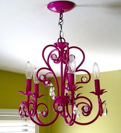 Painted Chandelier  http://vickiehowell.blogspot.com/2009/02/i-love-to-create-chandelier-make-over.html