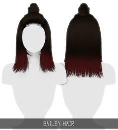 Sims 4 Hairs ~ Simplification: Bailey Hair Bailey Hair by Simpliciaty - Long Hairstyles ~ Sims 4 Hai The Sims 4 Pc, Sims Four, Sims Cc, Sims 4 Mods Clothes, Sims 4 Clothing, Sims 4 Curly Hair, Hard Part Haircut, Sims 4 Black Hair, The Sims 4 Cabelos