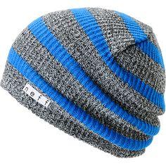 Neff Daily Grey   Blue Striped Beanie  20c6fb8fce0d