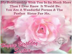 Birthday Wishes For Sister - Birthday Images, Pictures Happy Birthday Sister Pictures, Birthday Greetings For Sister, Happy Birthday Mom Quotes, Wish You Happy Birthday, Brother Birthday Quotes, Happy Birthday Brother, Best Birthday Wishes, Happy Birthday Gifts, Sister Quotes