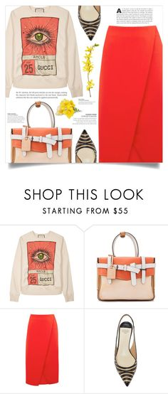 """Spring Time"" by dolly-valkyrie ❤ liked on Polyvore featuring Gucci, Reed Krakoff and Warehouse"