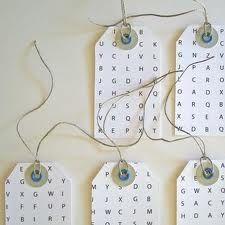 word search name tags.