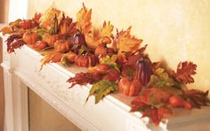 Decorative Gourds and Leaves Fall Floral Scatters