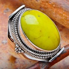gaspeite ring-love this ring