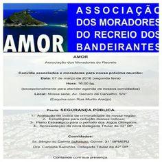 Jornalista Denise Machado: Reunião na Associação dos Moradores do Recreio dos...